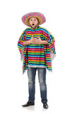 Funny mexican isolated on white Stock Photos