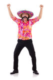 Funny mexican isolated on white Royalty Free Stock Photography