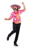 Funny mexican isolated on white Royalty Free Stock Images