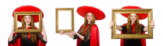 The funny mexican isolated on the white Royalty Free Stock Photos
