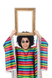 Funny mexican with photo frame Royalty Free Stock Photography
