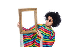 Funny mexican with photo frame Stock Photo