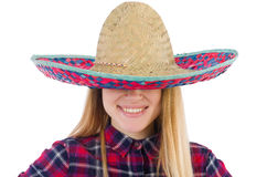 Funny mexican with sombrero Stock Photos
