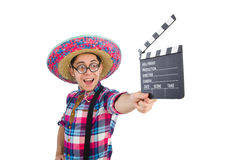 Funny mexican with sombrero Royalty Free Stock Images