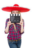 Funny mexican with sombrero. In concept Royalty Free Stock Photography