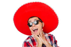 Funny mexican with sombrero Stock Photography