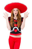 Funny mexican with sombrero Stock Photo