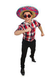 Funny mexican with sombrero Stock Images