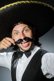 Funny mexican with sombrero Stock Image