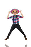 Funny mexican with sombrero Royalty Free Stock Image