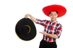 Funny mexican with sombrero Royalty Free Stock Photos