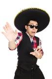 Funny mexican with sombrero. In concept Stock Photos