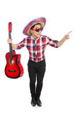 Funny mexican with sombrero. In concept Stock Image