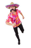 Funny mexican with sombrero. In concept Royalty Free Stock Photo