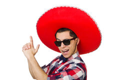 Funny mexican with sombrero. In concept Royalty Free Stock Images