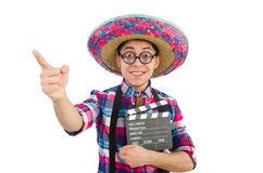 Funny mexican with sombrero Royalty Free Stock Photography