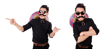 The funny mexican with sombrero in concept Royalty Free Stock Photography