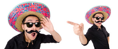 The funny mexican with sombrero in concept Royalty Free Stock Images