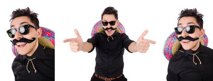 The funny mexican with sombrero in concept Stock Photo