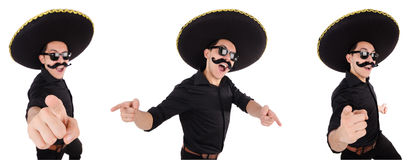 The funny mexican with sombrero in concept Royalty Free Stock Photo