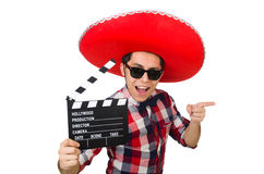Funny mexican with sombrero in funny concept Stock Photo