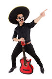 Funny mexican. With sombrero hat stock photo