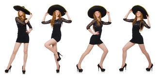 The funny mexican with sombrero hat. Funny mexican with sombrero hat Royalty Free Stock Photography