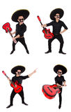 The funny mexican with sombrero hat Royalty Free Stock Photos