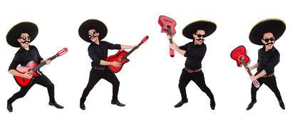 The funny mexican with sombrero hat Royalty Free Stock Photo