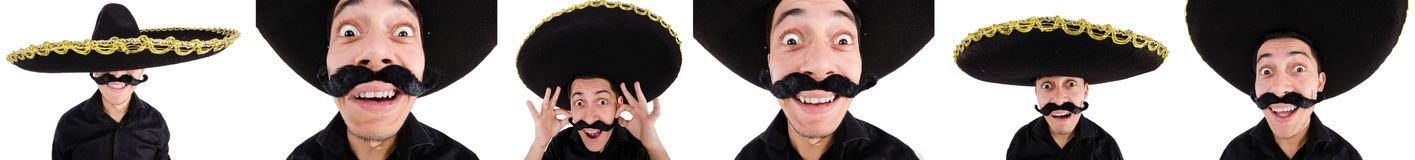 The funny mexican with sombrero hat Stock Image