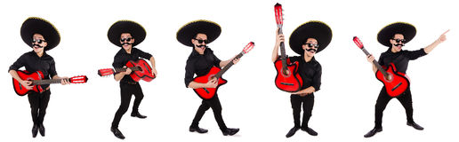 The funny mexican with sombrero hat Royalty Free Stock Photography