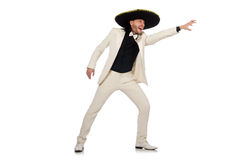 The funny mexican in suit and sombrero  Stock Image