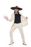 The funny mexican in suit and sombrero Royalty Free Stock Images