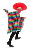 Funny mexican with weapon Stock Images