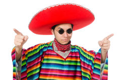Funny mexican wearing poncho Royalty Free Stock Photo
