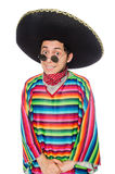 Funny mexican wearing poncho Stock Photography