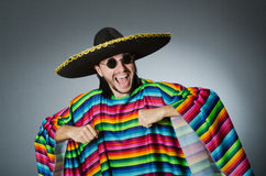 The funny mexican wearing sombrero hat Royalty Free Stock Image