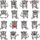 Funny mice (2). 16 smiley mice individually grouped for easy copy-n-paste. Vector Royalty Free Stock Photos