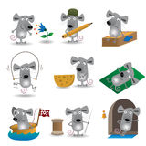 Funny mice set Royalty Free Stock Image