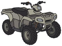 Funny military ATV. Hand drawing of a funny military ATV - not a real model Royalty Free Stock Image