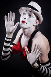 Funny mime Royalty Free Stock Image