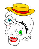 Funny mime face Royalty Free Stock Photography