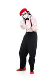 Funny mime going to attack Royalty Free Stock Photography
