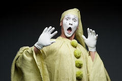 Funny mime Stock Photo