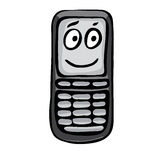 Funny mobile phone Royalty Free Stock Photo