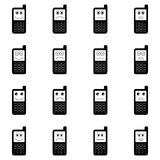 Funny mobile phones icon set Royalty Free Stock Image