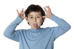 Funny mocking child Stock Photo