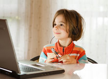 Funny modern child Stock Images