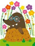Funny mole stock illustration