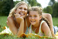 Funny mom and daughter Royalty Free Stock Photography